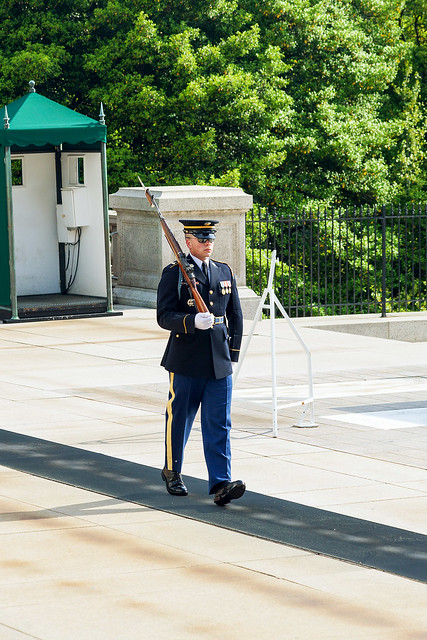 Guard at the Tomb of the Unknown Soldier.