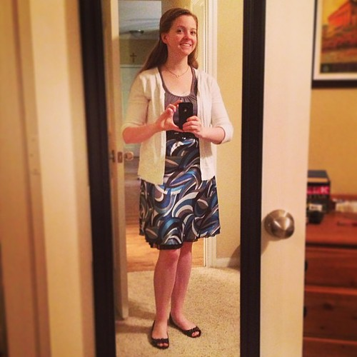I missed yesterday, but it's back on the #ootd train today! Everything but the skirt from Target, skirt from Kohl's circa 2007.
