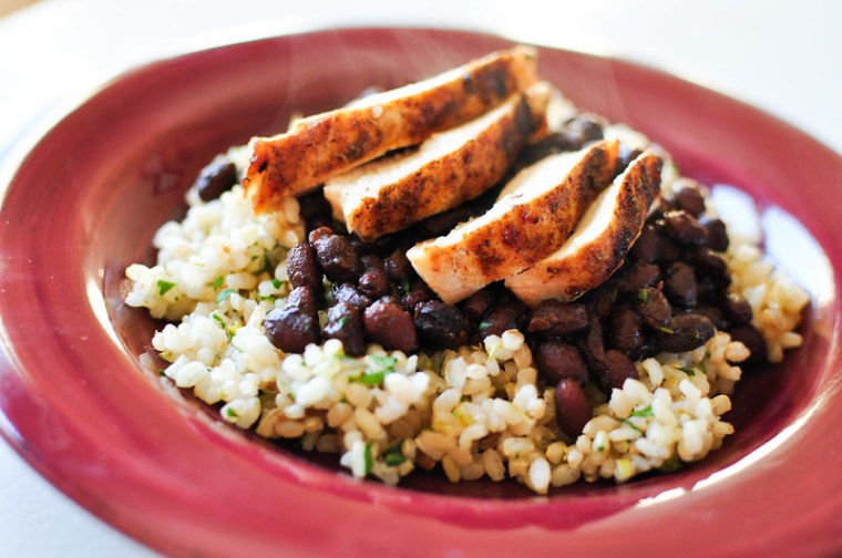 Cilantro Lime Rice and Seasoned Black Beans with Chicken 3