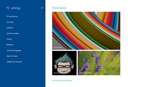 PC Settings ใหม่ของ Microsoft Windows 8.1