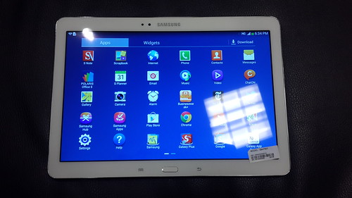 Samsung Galaxy Note 10.1 2014 Edition ด้านหน้า