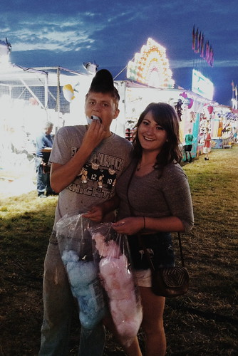 Z Crew: Taylor and a Friend Enjoy Cotton Candy