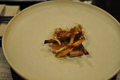Squash, lamb breast, baby corn, sunflower seeds