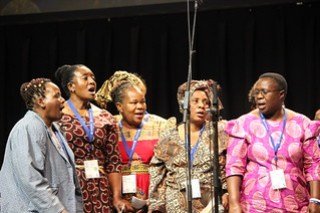 Brethren Choral Sounds Choir from Zimbabwe sang at MWC July 23, 2015