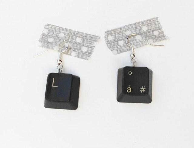 09 Computer Keyboard Earrings
