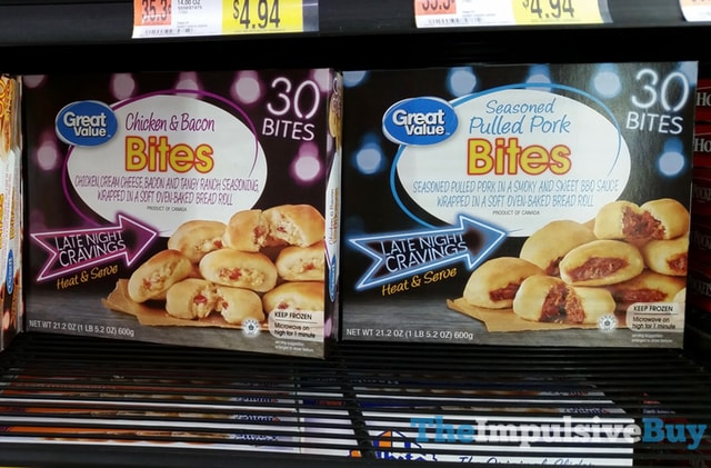 Great Value Chicken & Bacon and Seasoned Pulled Pork Bites