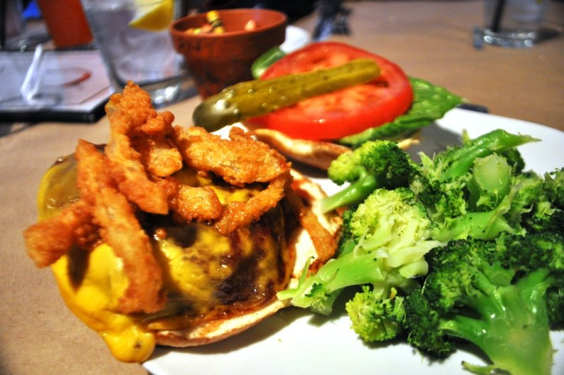 Farm-to-Fork Cheeseburger from Polyface Farm Served at the Depot Grille in Staunton, Va.