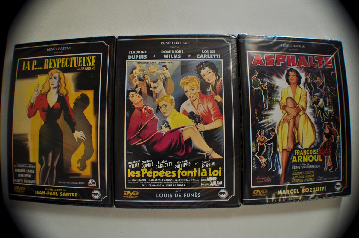 3 DVD Films Noirs et Pépées