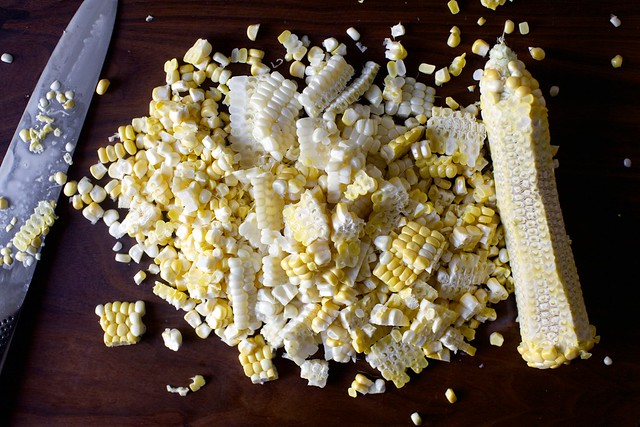 corn cut from cobs