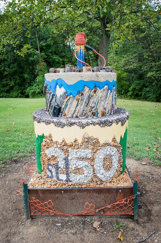 stl 250 anniversay cake sculpture park