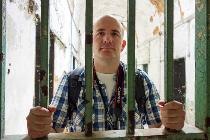 Maynard locked up at Eastern State Penitentiary.