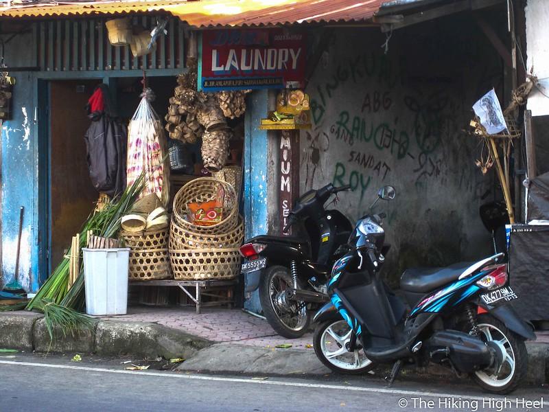Wäscherei auf Bali