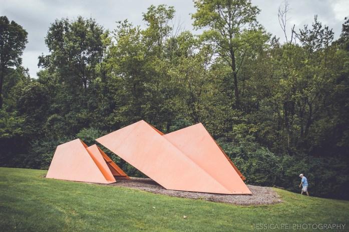 orange triangles laumeier sculpture park