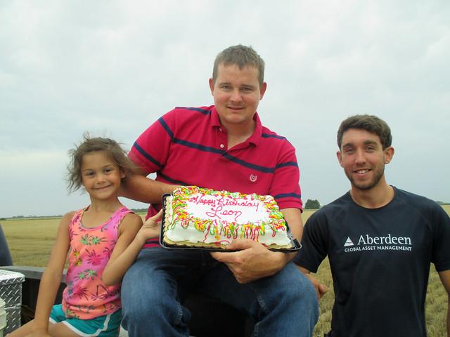 Celebrating Leons bday in the field