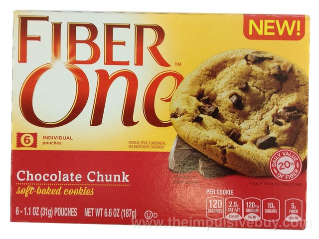 Fiber One Chocolate Chunk Soft-Baked Cookies