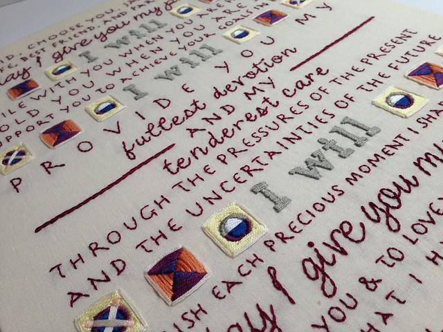 Custom wedding vows - tapestry inspiration