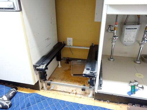 パナソニックの食洗機を撤去