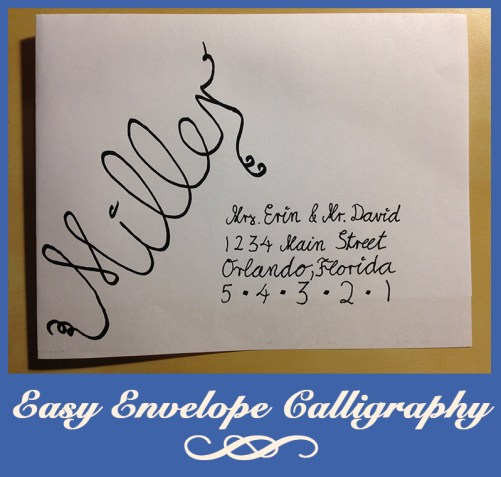Easy Envelope Calligraphy Address