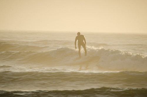 Surfer at Bastendorf Beach