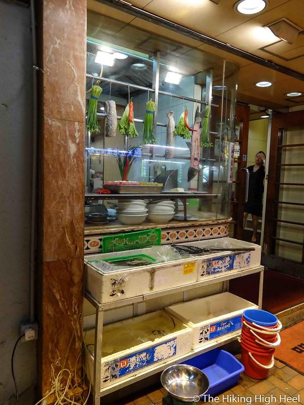 Garküche am Straßenrand in Hongkong