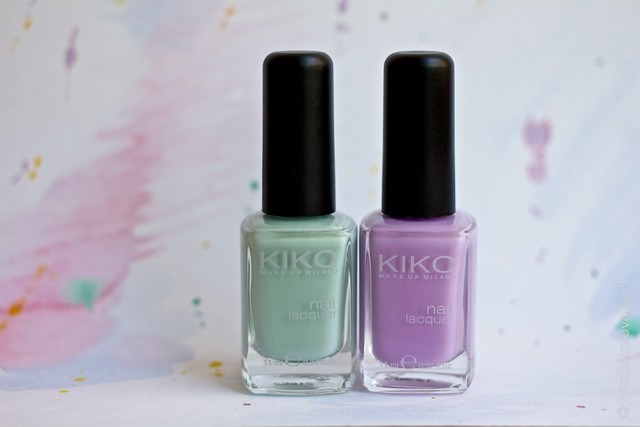 01 Kiko #345 Jade Green, Kiko #330 Lilac