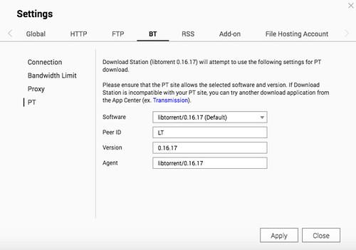 ความสามารถใหม่ของ DownloadStation 5 คือ เปลี่ยน Agent ได้