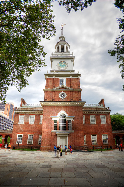 Independence Hall from the courtyard.