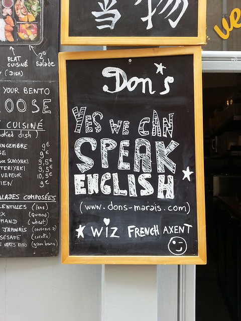 Dons Yes We Speak English (wiz French accent)