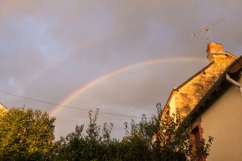 Rainbow over our village