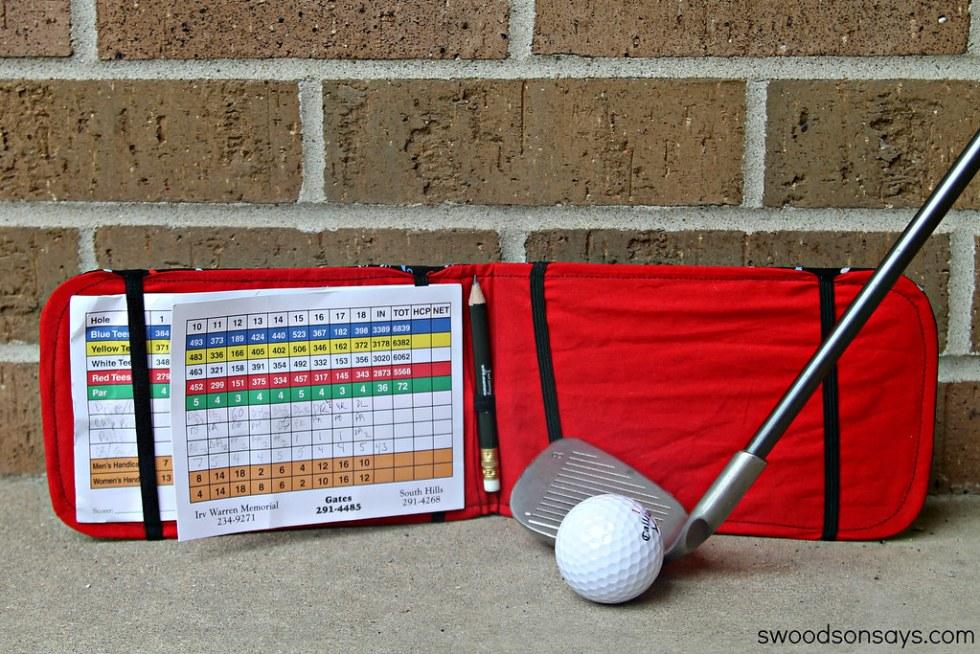 DIY Golf Score Card Holder Tutorial - Swoodson Says