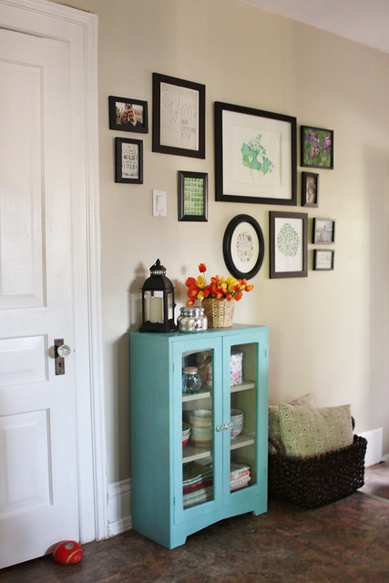 Glass Cabinet Makeover with Chalk Paint Decorative Paint