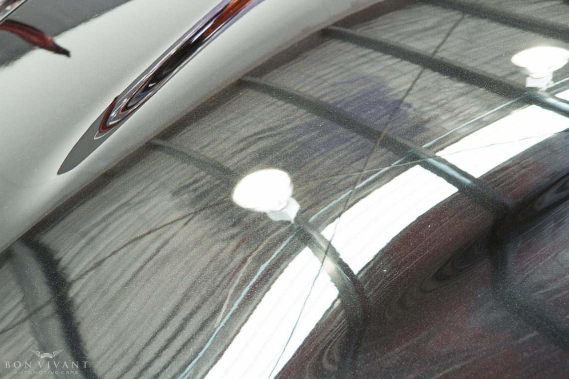 Aston Martin after paint correction bonnet