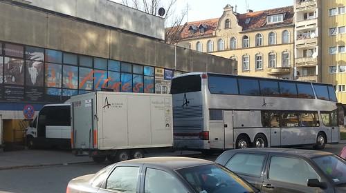 Borknagar tourbus outside Alibi club in Wroclaw- Poland