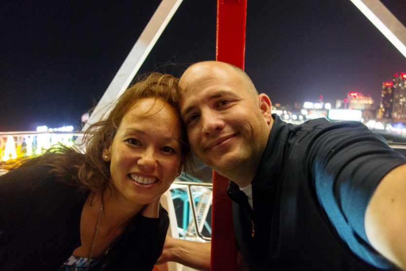 Our first Ferris Wheel ride.