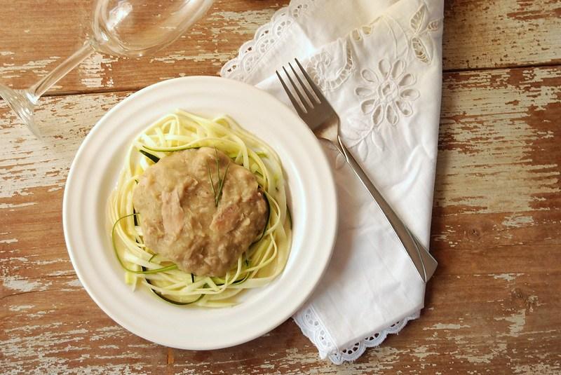 Creamy Chicken Zucchini Noodle Sauce (Dairy Free)
