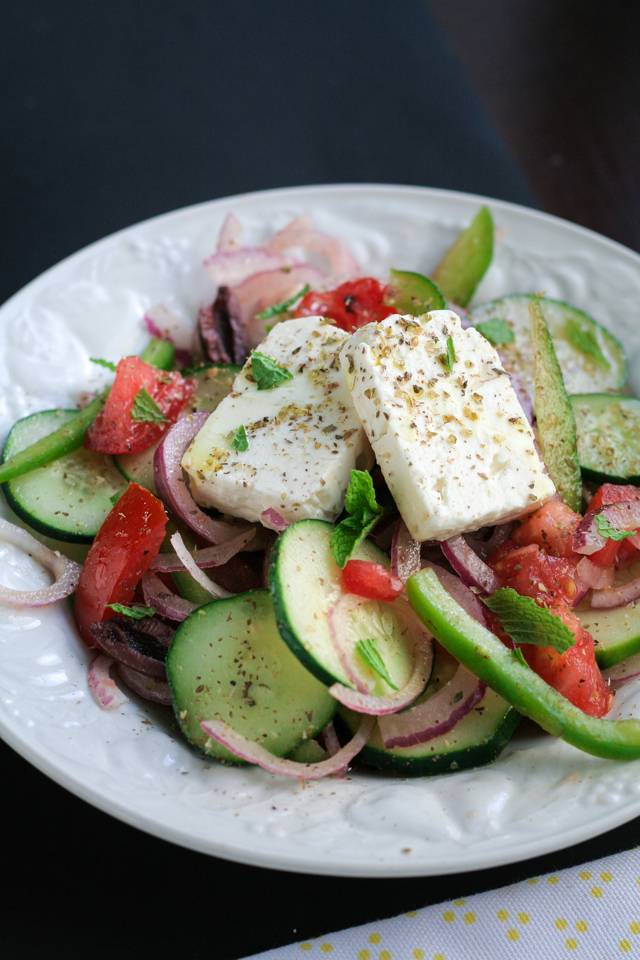 summer greek salad [ inthiskitchen.com ]