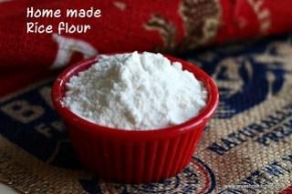 Home made- rice flour