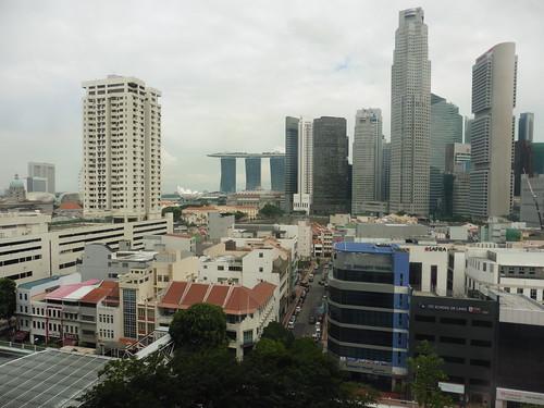 Mirador gratis, situado en Clarke Quay Central, en Singapur