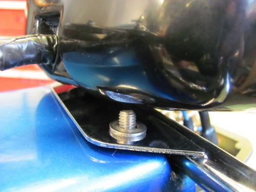 Washer Under Tail Light Shell and Top of Bracket