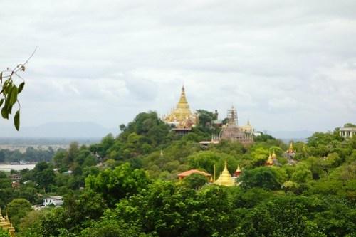View on Sagaing hill, Myanmar