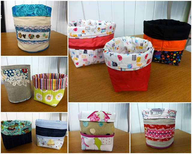 Fabric Buckets Workshop Aug14