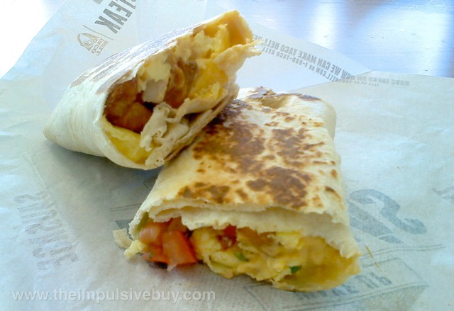 Taco Bell Fiesta Potatoes Grilled Breakfast Burrito 2