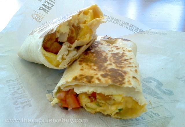 Taco Bell Fiesta Potatoes Grilled Breakfast Burrito 2