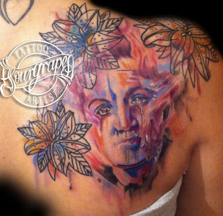 Watercolour Portrait Tattoo