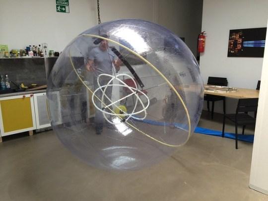 Aldo with prototype Camparc ball