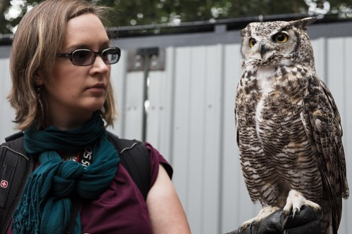 Jenn with Owl