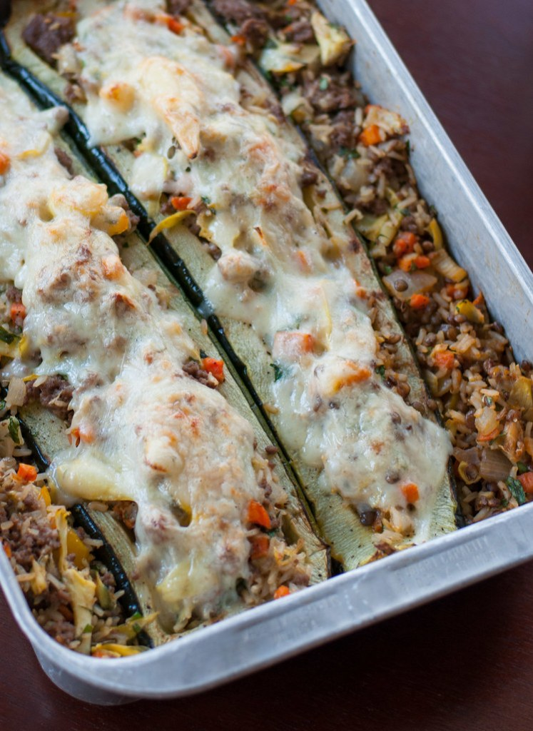 Zucchini with Artichoke Stuffing | Natural Comfort Kitchen