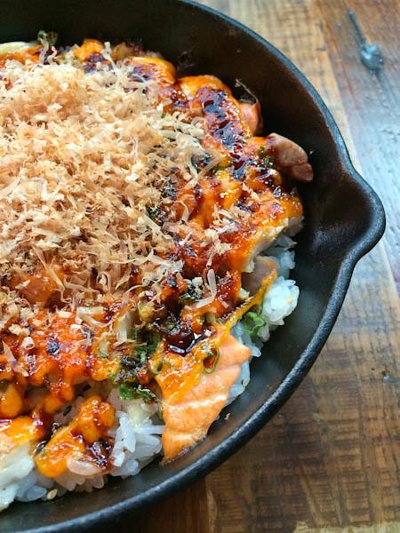 Cast Iron Rainbow Rice, Dami Sushi & Izakaya,