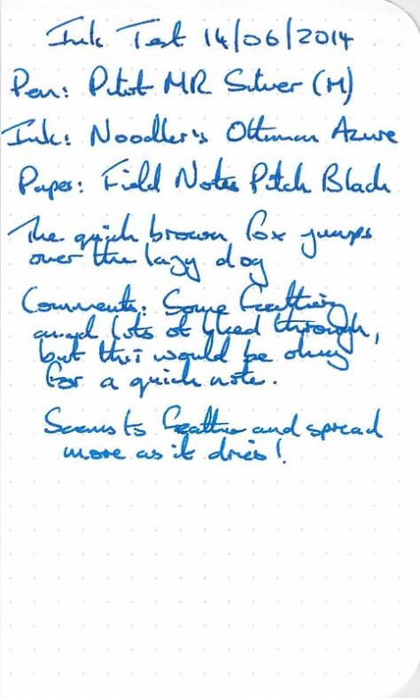 Noodler's Ottoman Azure - Ink Review - Field Notes (Rescan)