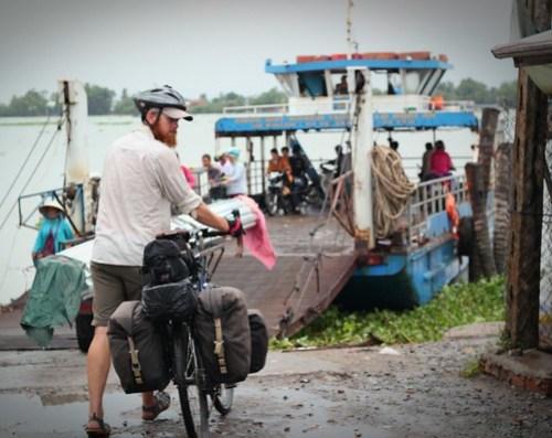 Ferry across the Mekong